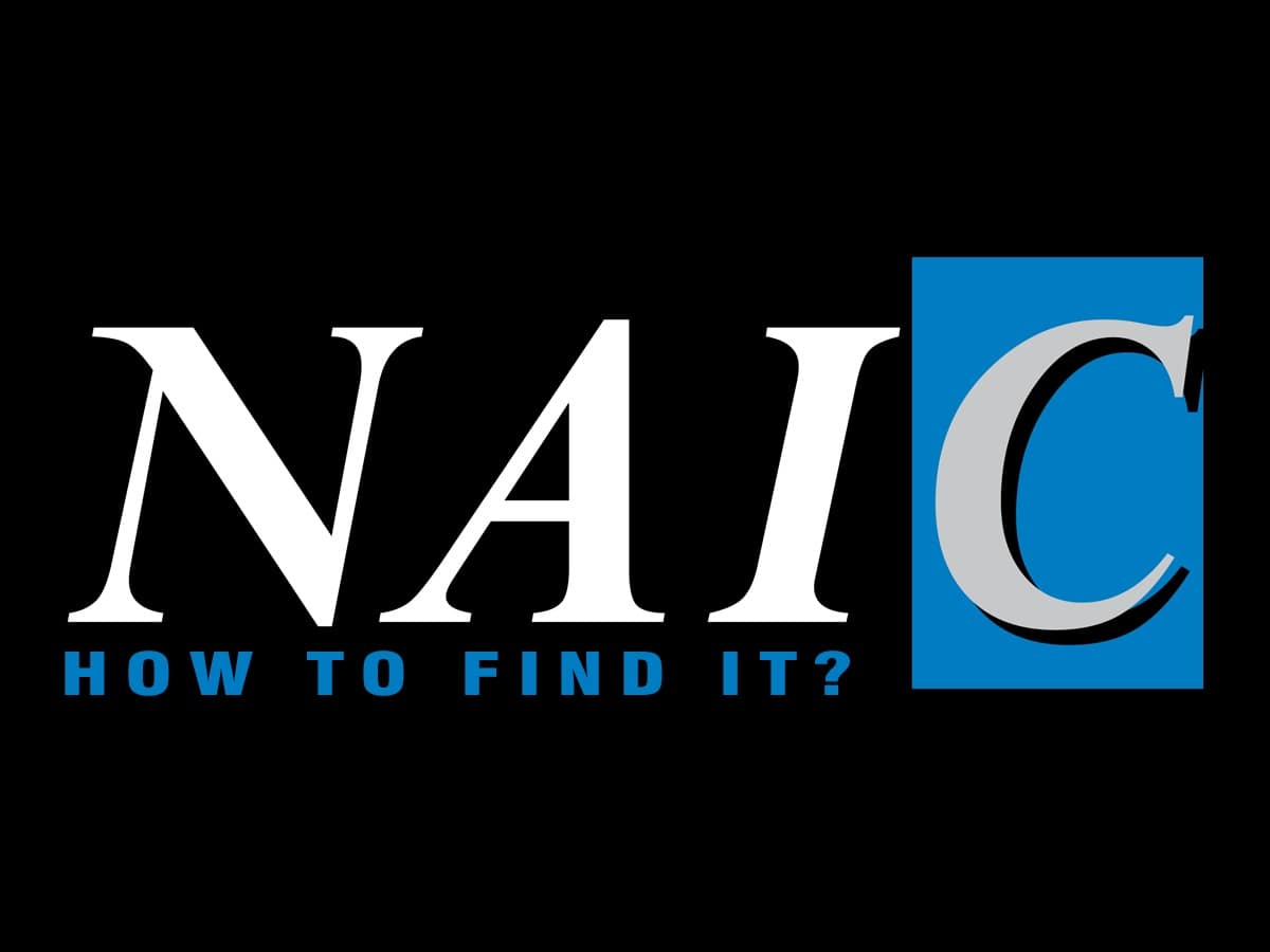 What Is An Naic Number And How Do You Find It